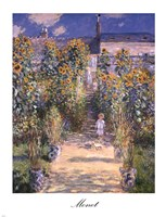 The Artist's Garden at Vetheuil with Boy, 1880 by Claude Monet, 1880 - various sizes