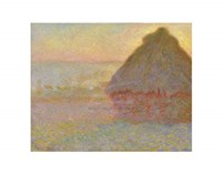 Grainstack (Sunset), 1891 Fine Art Print