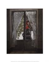 "The Red Kerchief: Portrait of Mrs. Monet, 1873 by Claude Monet, 1873 - 11"" x 14"""
