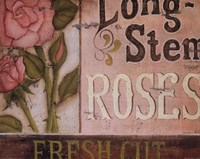 """Long Stem Roses by Kim Lewis - 14"""" x 11"""", FulcrumGallery.com brand"""
