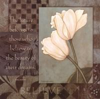 """Believe - Tulips by Stephanie Marrott - 12"""" x 12"""", FulcrumGallery.com brand"""