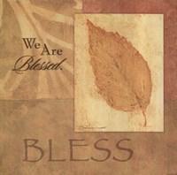 Bless - Leaf Framed Print