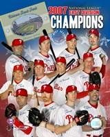 "Phillies - 2007 NL East Champion Team Composite by Ahava - 8"" x 10"""