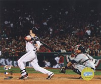 Dustin Pedroia  -'07 ALCS / Game 7 Home Run Fine Art Print