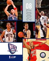 "'07 / '08 Nets Team Composite by Ahava - 8"" x 10"""