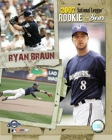 Ryan Braun - 2007 NL ROY / Portrait Plus Fine Art Print