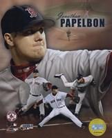 "Jonathan Papelbon - 2007 World Series / Portrait Plus by Ahava - 8"" x 10"", FulcrumGallery.com brand"