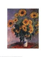 "Sunflowers, 1881 by Claude Monet, 1881 - 16"" x 20"""