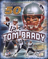 Tom Brady 50 TD's Portrait Plus Fine Art Print