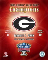 "Georgia  2007 Allstate Sugar Bowl Champions Composite by Ahava - 8"" x 10"" - $12.99"