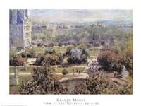 View of Tuileries Gardens Fine Art Print