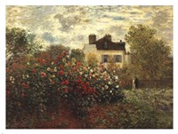 The Artist's Garden in Argenteuil Fine Art Print