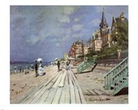 Beach at Trouville, c.1870 Framed Print