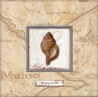 "Sea Treasure IV - mini by Charlene Audrey - 8"" x 8"" - $9.49"