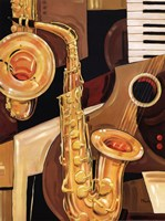 "Abstract Sax - mini by Paul Brent - 12"" x 16"""