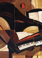 "Abstract Piano - mini by Paul Brent - 12"" x 16"""
