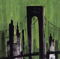"Green Cityscape by Paul Brent - 12"" x 12"" - $9.99"