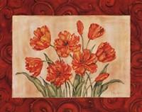 Linen Scroll Tulip Fine Art Print