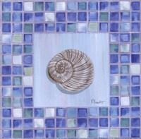 "Mosaic Moonshell - mini by Paul Brent - 8"" x 8"""