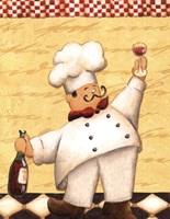 Le Chef et le Vin - mini Fine Art Print
