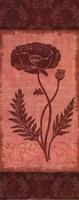 """Poppy Silhouette - petite by Delphine Corbin - 4"""" x 10"""", FulcrumGallery.com brand"""