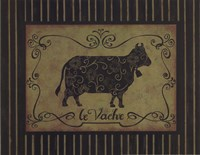 la Vache Framed Print