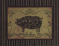 le Cochon Framed Print