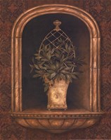 Olive Topiary Niches II - mini Fine Art Print
