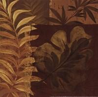 Tropical Foliage I - mini Framed Print
