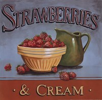 Strawberries & Cream Framed Print