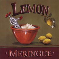 Lemon Meringue Framed Print