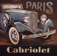 "Paris Cabriolet by Gregory Gorham - 24"" x 24"" - $18.99"