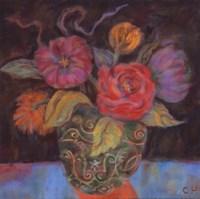 """Orange Shadow - special by Carolyn Holman - 8"""" x 8"""""""