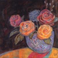 """Pink Shadow by Carolyn Holman - 12"""" x 12"""""""