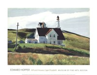 Hill and Houses, Cape Elizabeth, Maine, 1927 Fine Art Print