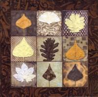 """Leaf Mosaic I by Carolyn Holman - 12"""" x 12"""""""