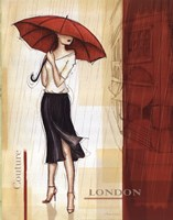 Rain London Framed Print