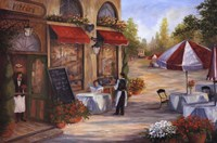 "Caf de'Vittori I by Linda Wacaster - 36"" x 24"""