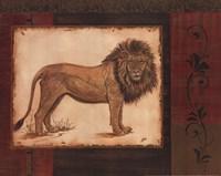 Savanna Lion Framed Print