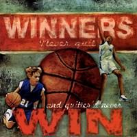 Winners - Basketball Framed Print