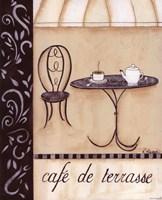 Caf De Terrasse Fine Art Print