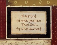 Thank God Fine Art Print