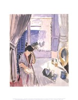 Woman Reading at a Dressing Table, late 1919 Fine Art Print