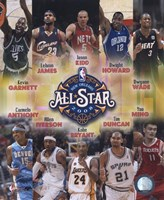 """2007-08 NBA All-Star Game Matchup Composite by Daphne Brissonnet, 2007 - 8"""" x 10"""""""