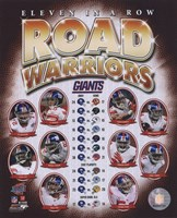 "The New York Giants ""Road Warriors"" Composite (#66) Fine Art Print"