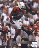 Andre Johnson University of Miami Action Fine Art Print