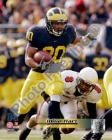 """Mike Hart University of Michican Wolverines 2006 Action by Daphne Brissonnet - 8"""" x 10"""""""