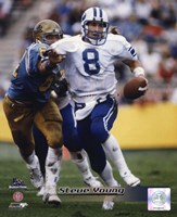 """Steve Young Brigham Young University Action by Daphne Brissonnet - 8"""" x 10"""""""