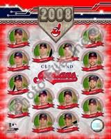 """Cleveland Indians - 2008 Team Composite by Daphne Brissonnet - 8"""" x 10"""""""