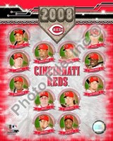 "Cincinnati Reds - 2008 Team Composite by Daphne Brissonnet - 8"" x 10"""